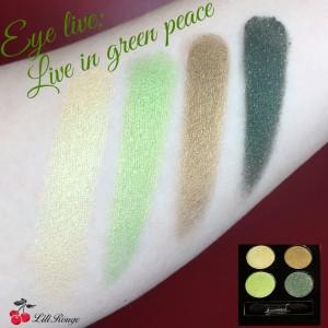Fard paupières vert quatuor