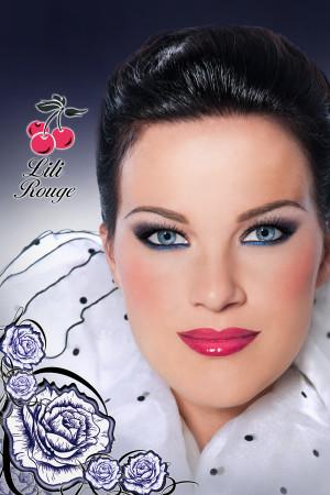 Maquillage blanc et bleu hiver 2016