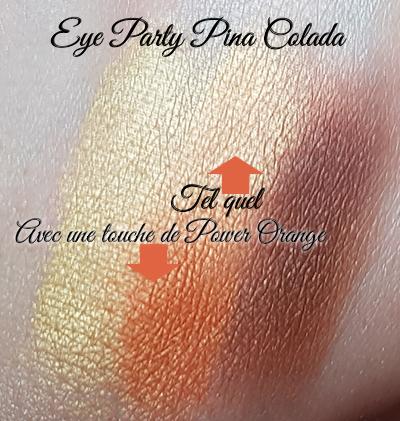 Trio Eye Party Pina Colada + touche de Be Wild & Funky Power Orange au centre