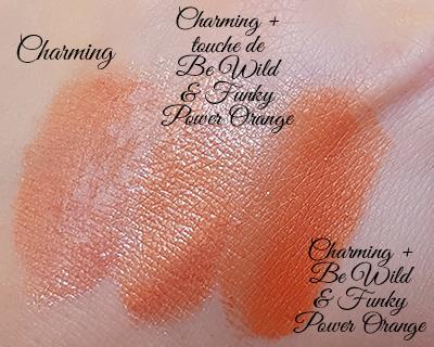 Gloss Charming mélangé avec le pigment pur orangé Be Wild & Funky Power Orange