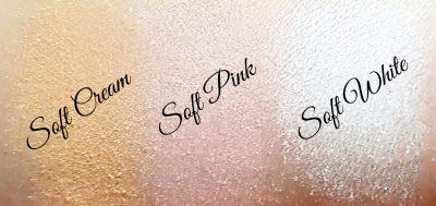 Fard pigment beige, rose et blanc
