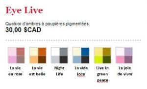 Palettes de quatre couleurs